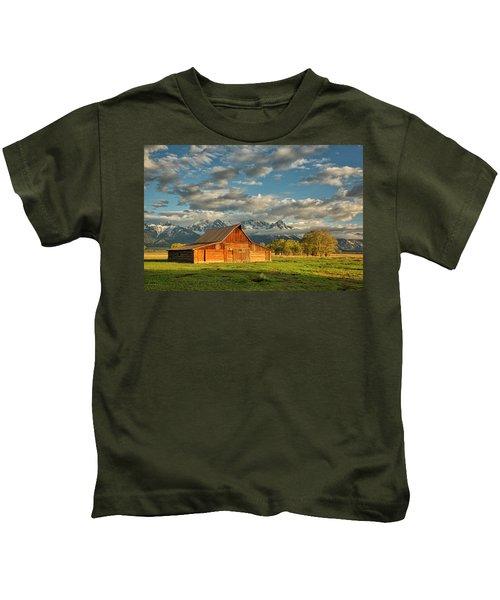 Morning Light On Moulton Barn #2 Kids T-Shirt