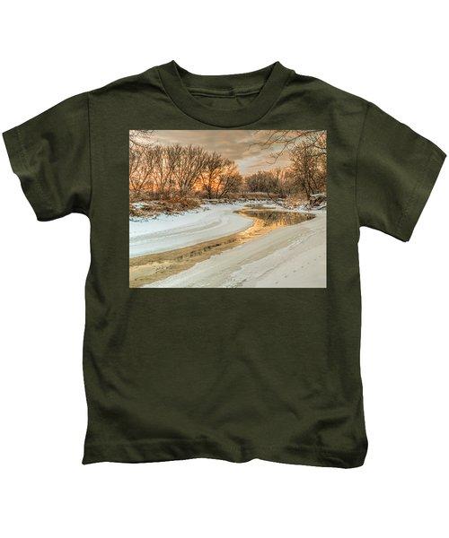 Morning Light On The Riverbank Kids T-Shirt