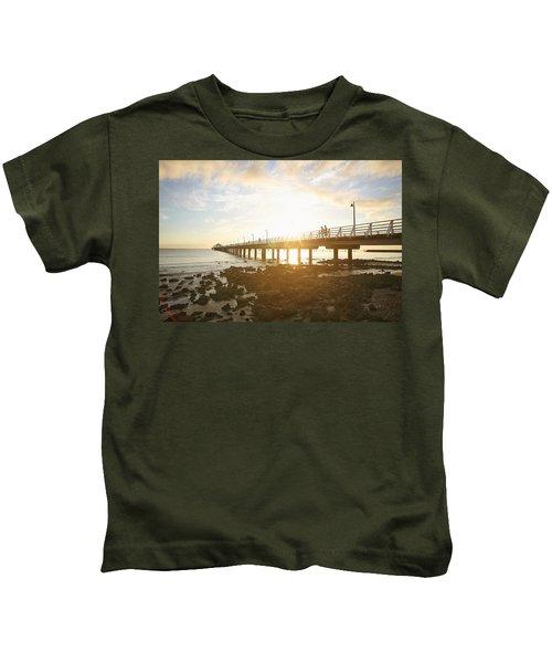 Morning Sunshine At The Pier  Kids T-Shirt