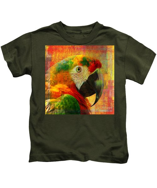Mosaic Macaw 2016 Kids T-Shirt