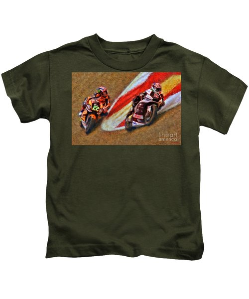 Moto2 Johann Zarco Leads Sam Lowes Kids T-Shirt