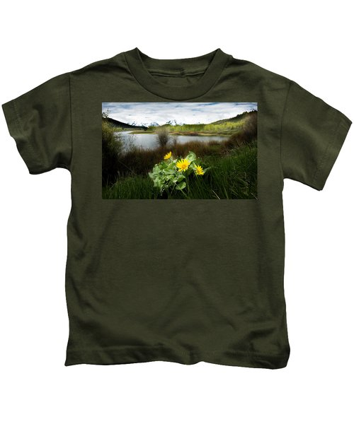 Mount Moran Spring Kids T-Shirt