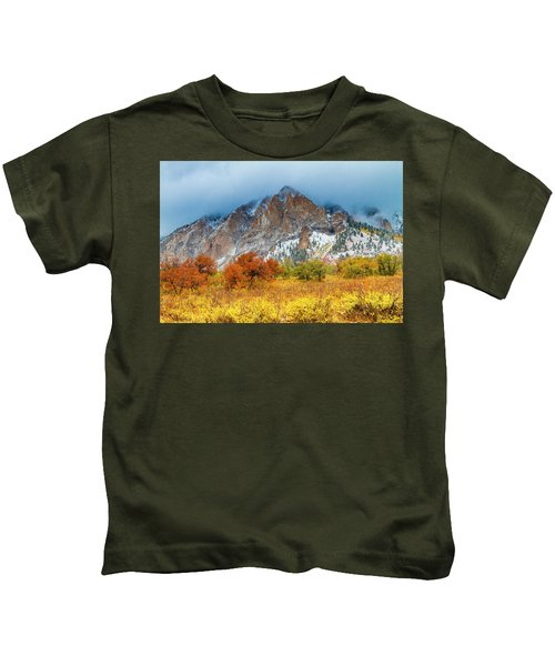 Mountain Autumn Color Kids T-Shirt