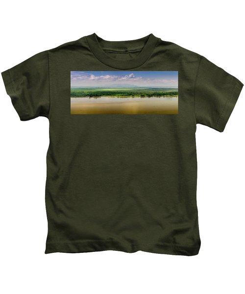 Mountain Beyond The River Kids T-Shirt