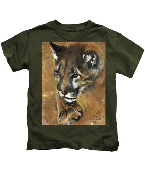 Mountain Lion - Guardian Of The North Kids T-Shirt