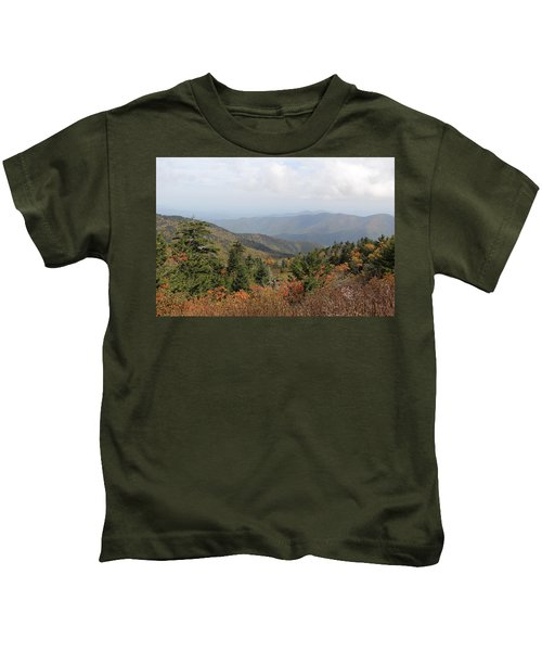 Mountain Long View Kids T-Shirt