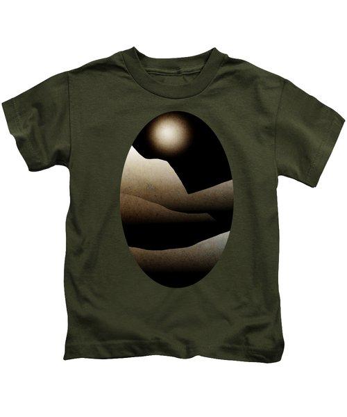 Mountain Moonlight Landscape Art Kids T-Shirt by Christina Rollo
