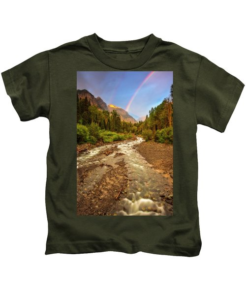 Mountain Rainbow Kids T-Shirt