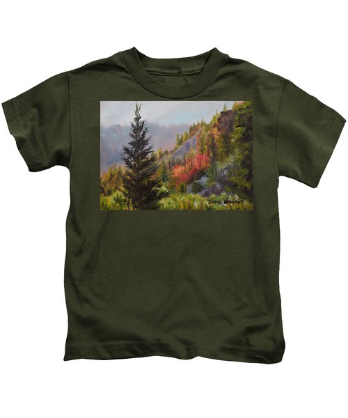 Mountain Slope Fall Kids T-Shirt