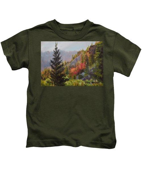 Mountain Slope Fall Kids T-Shirt