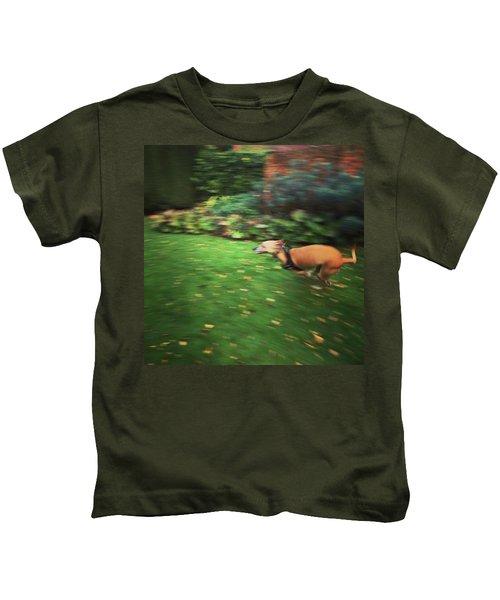 Mr Finly Enjoying A Few Rapid Laps Of Kids T-Shirt