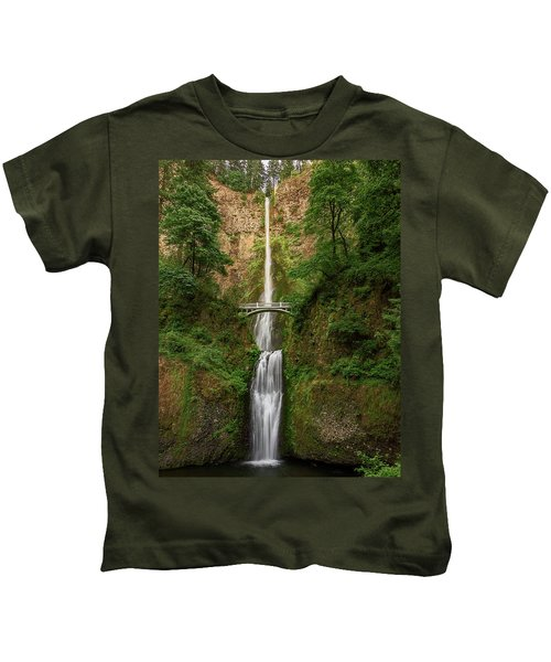 Multnomah Falls Kids T-Shirt