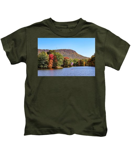 Nashawannuck Pond Fall Colors Kids T-Shirt