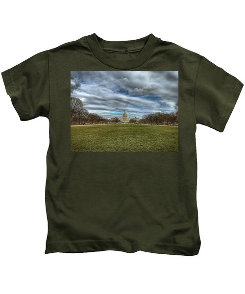 Kids T-Shirt featuring the photograph National Mall by Chris Montcalmo