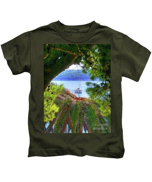 Nature Framed Boat Kids T-Shirt