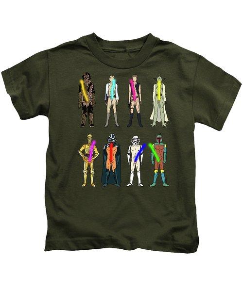 Naughty Lightsabers Kids T-Shirt