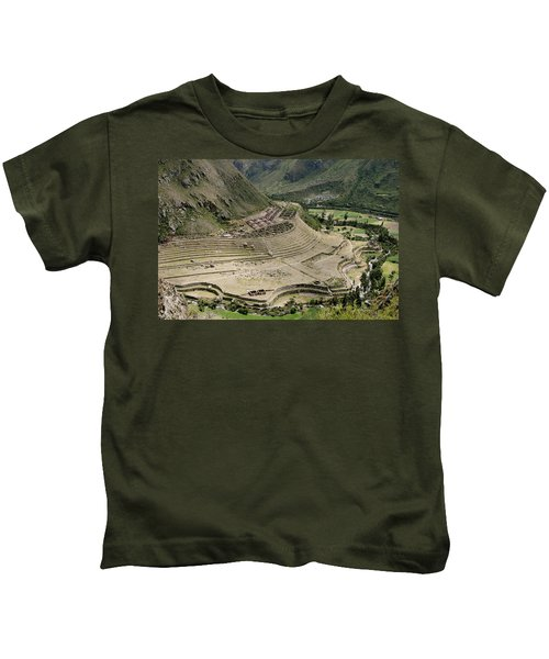 Nestled At The Foot Of A Mountain Kids T-Shirt