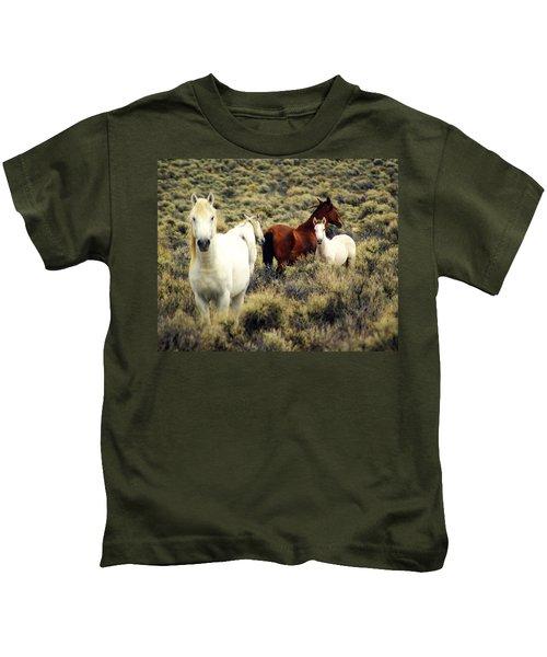 Nevada Wild Horses Kids T-Shirt