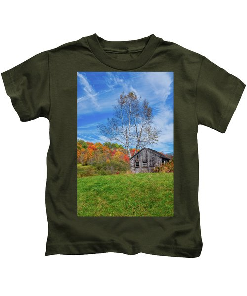New England Fall Foliage Kids T-Shirt