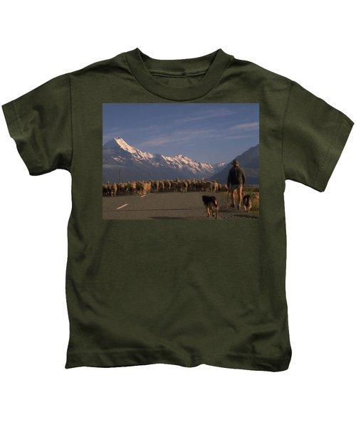 New Zealand Mt Cook Kids T-Shirt