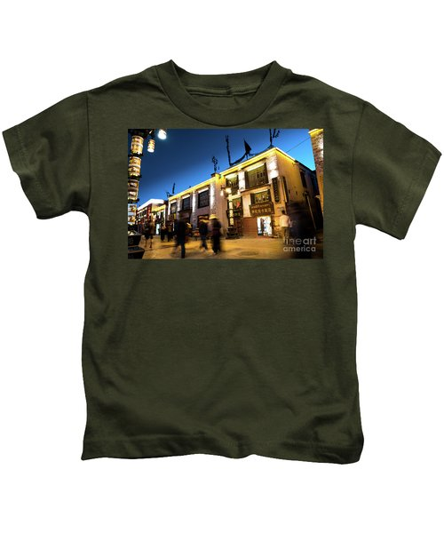 Night At Jokhang Temple Lhasa Kora Tibet Artmif.lv Kids T-Shirt