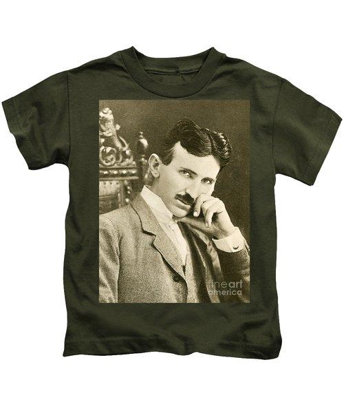 Nikola Tesla, Serbian-american Inventor Kids T-Shirt