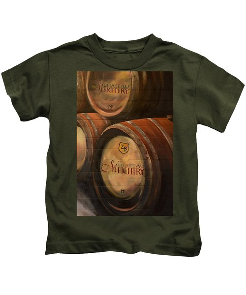 No Wine Before It's Time - Barrels-chateau Meichtry Kids T-Shirt