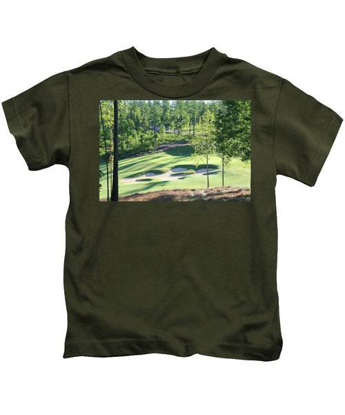 Kids T-Shirt featuring the photograph North Carolina Golf Course 12th Hole by Marian Palucci-Lonzetta