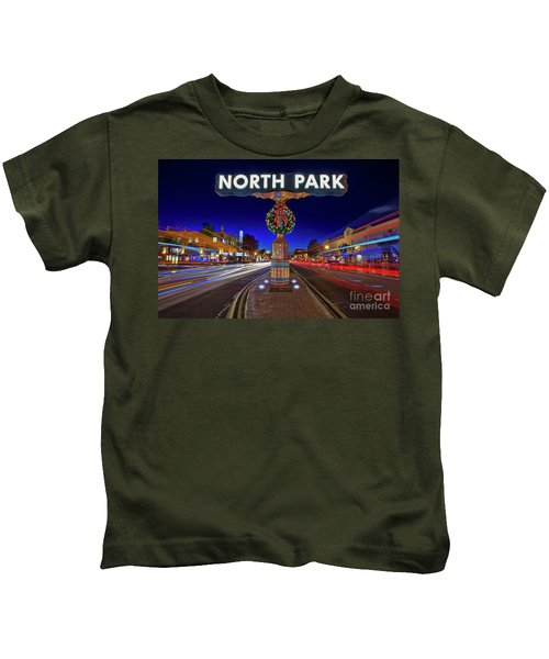 Kids T-Shirt featuring the photograph North Park Christmas Rush Hour by Sam Antonio Photography