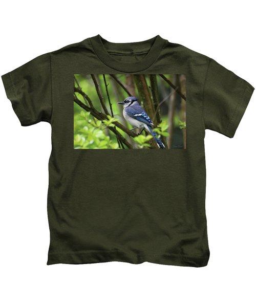 Northern Blue Jay Kids T-Shirt