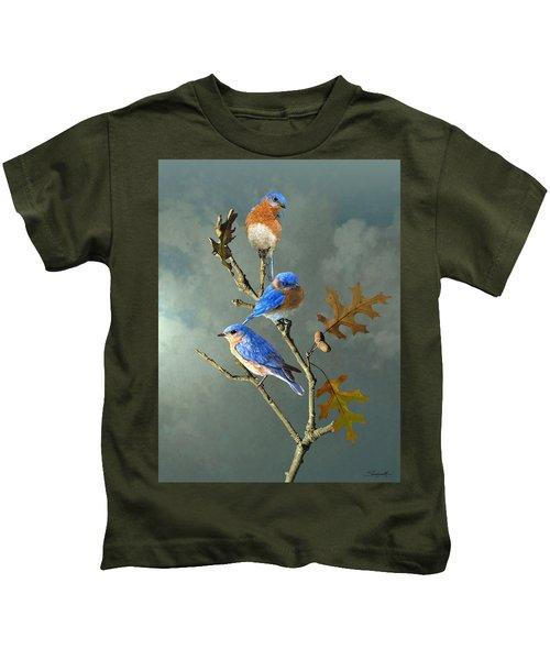 Nothing But Bluebirds Kids T-Shirt