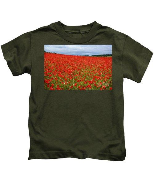 Nottinghamshire Poppy Field Kids T-Shirt