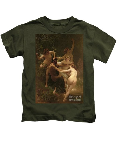 Nymphs And Satyr Kids T-Shirt