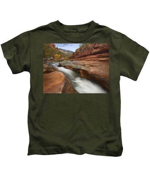 Oak Creek In Slide Rock State Park Kids T-Shirt
