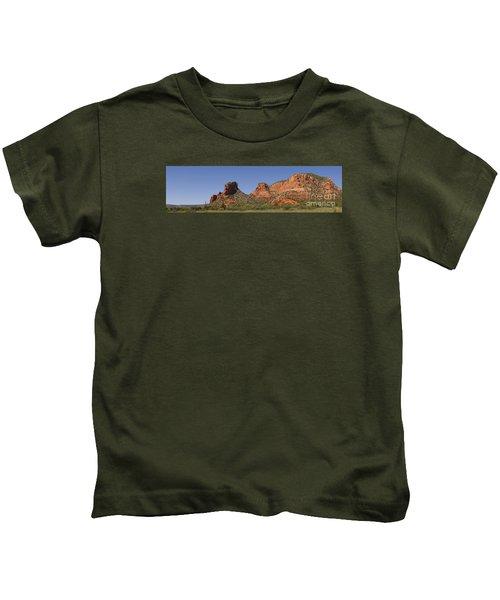 Oak Creek Panorama In Red Kids T-Shirt
