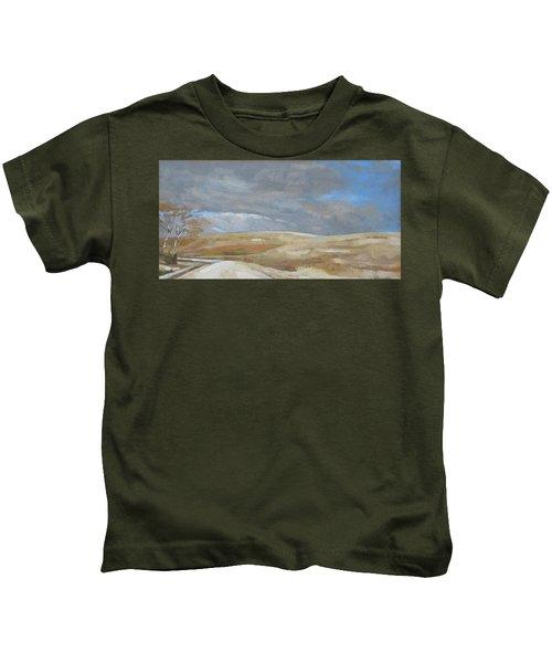 Oak Savanna, Fall Storm Kids T-Shirt