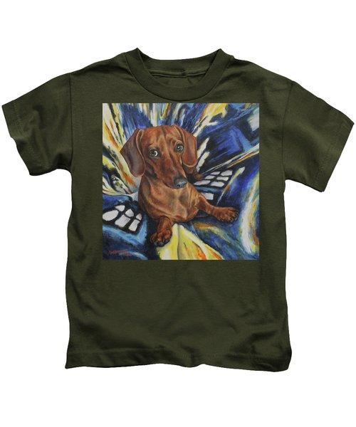 Dachshund Time Lord Kids T-Shirt