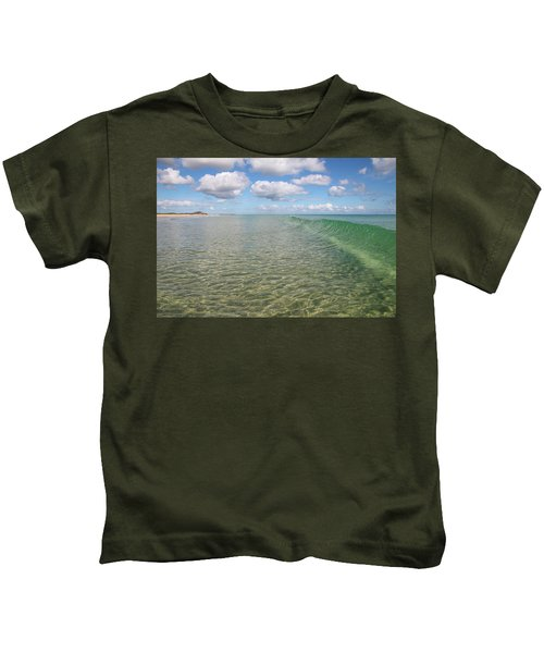 Ocean Waves And Clouds Rollin' By Kids T-Shirt