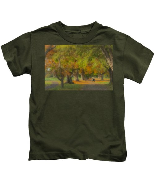October Morning At Easton Country Club Kids T-Shirt