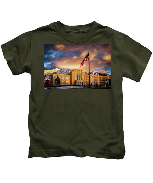 Ogden High School At Sunset Kids T-Shirt