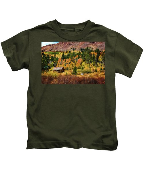 Old Cabin In Hope Valley Kids T-Shirt