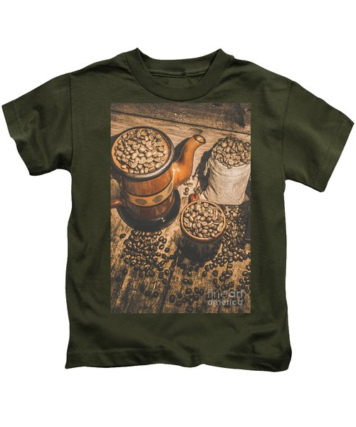Old Coffee Brew House Beans Kids T-Shirt