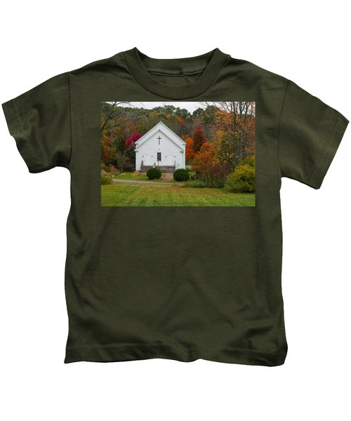 Old New England Church Kids T-Shirt
