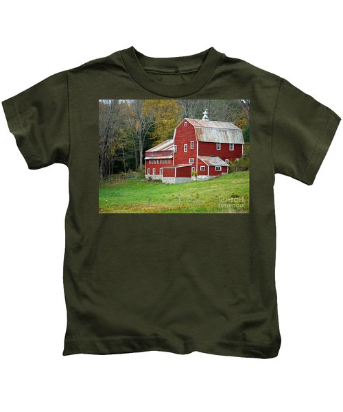 Old Red Vermont Barn Kids T-Shirt