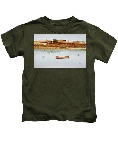 Old Town Canoe Menemsha Mv Kids T-Shirt