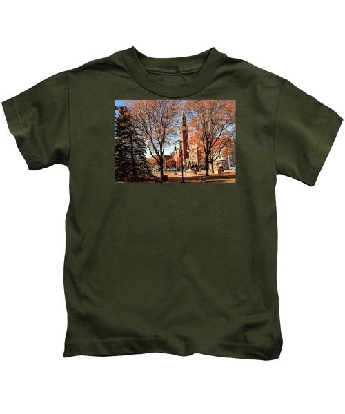 Old Town Hall In The Fall Kids T-Shirt