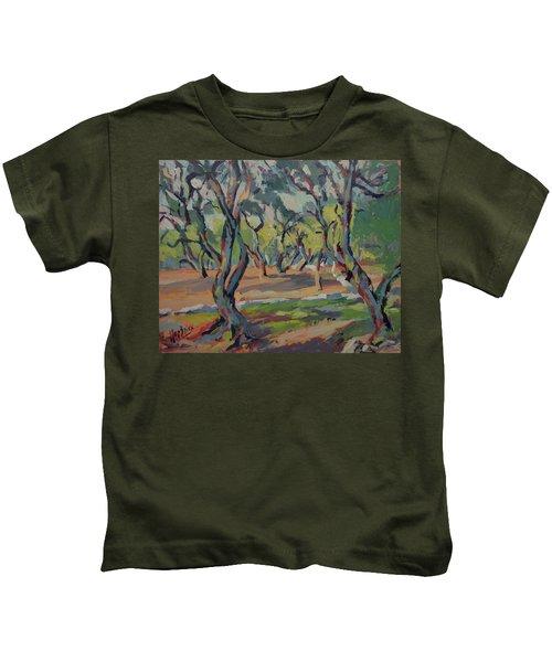 Olive Yard Paxos Greece Kids T-Shirt