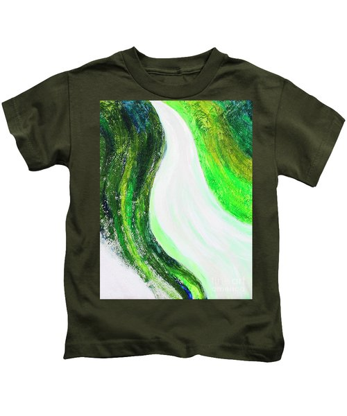 On The Road In Green Kids T-Shirt
