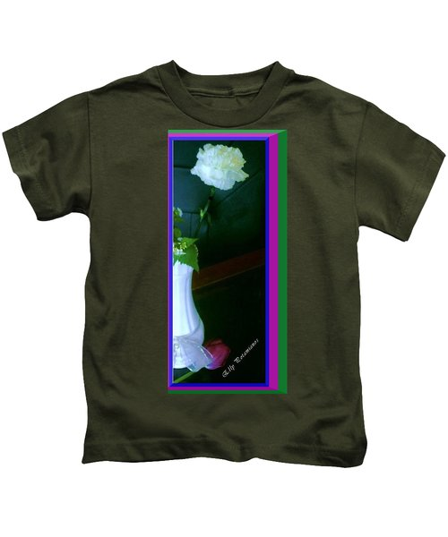 One Carnation And One Rose Bud Kids T-Shirt