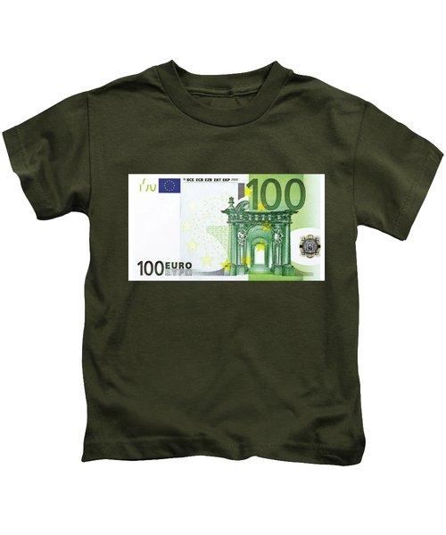 One Hundred Euro Bill Kids T-Shirt